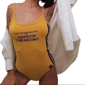 Tops - 🆕 Quentin Tarantino Yellow Bodysuit